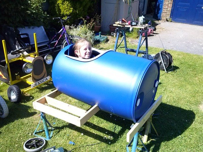 Plastic Barrel Soap Box Derby