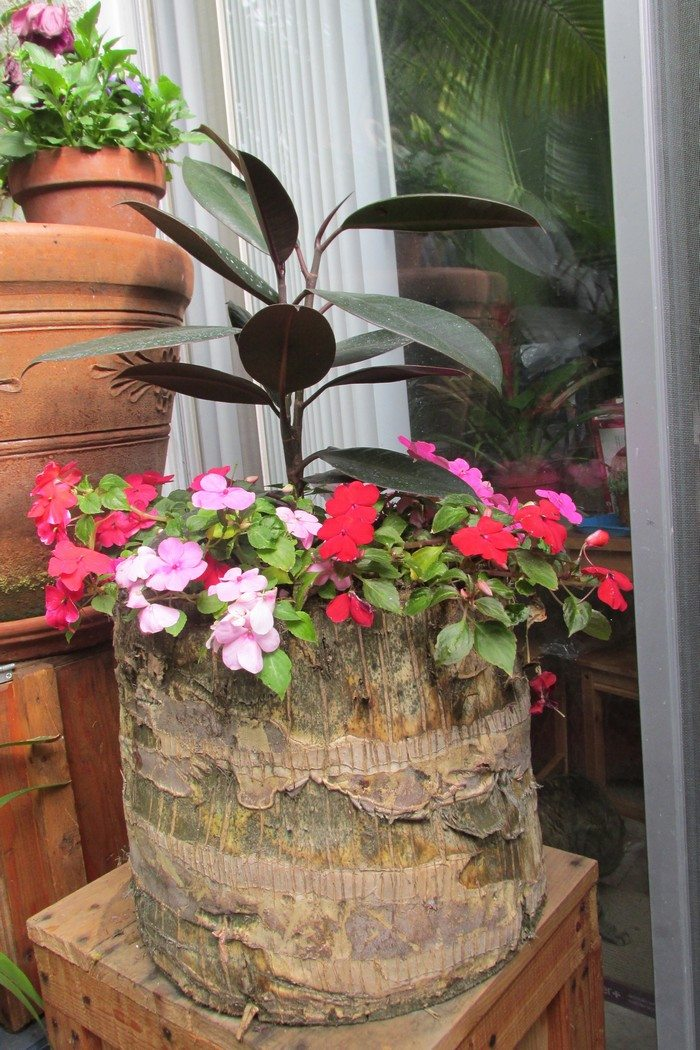 How To Make Your Own Tree Stump Planter Diy Projects For