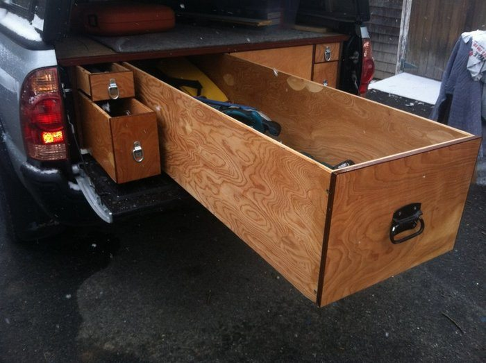 Truck bed drawers diy crafts - Homemade truck bed drawers ...