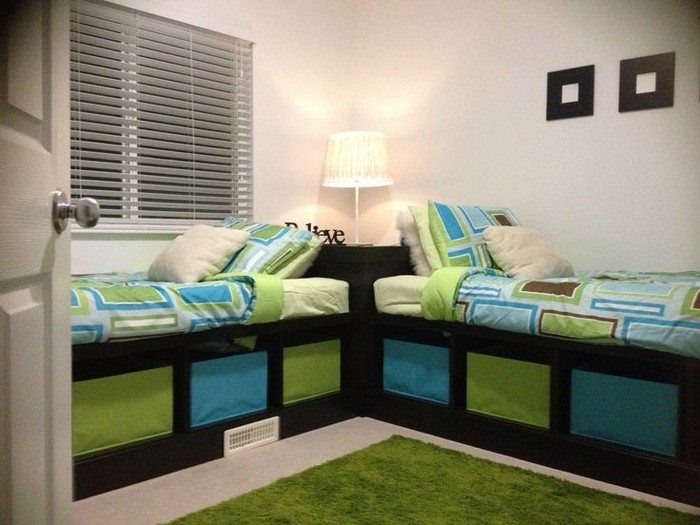 How to Build Twin Corner Beds With Storage DIY projects for everyone