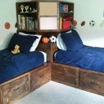 Twin Corner Storage Bed