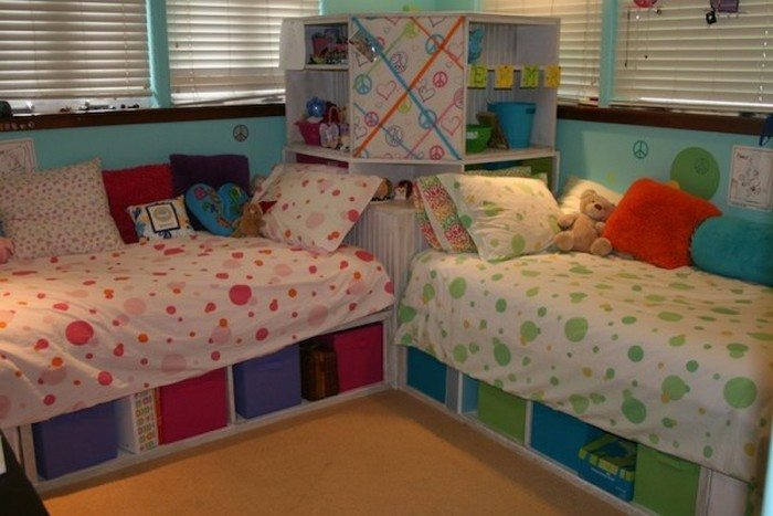 How To Build Twin Corner Beds With Storage Diy Projects