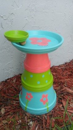 Turn Clay Flower Pots Into A Brilliant Bird Bath Diy