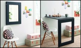 DIY Folding Mirror Table