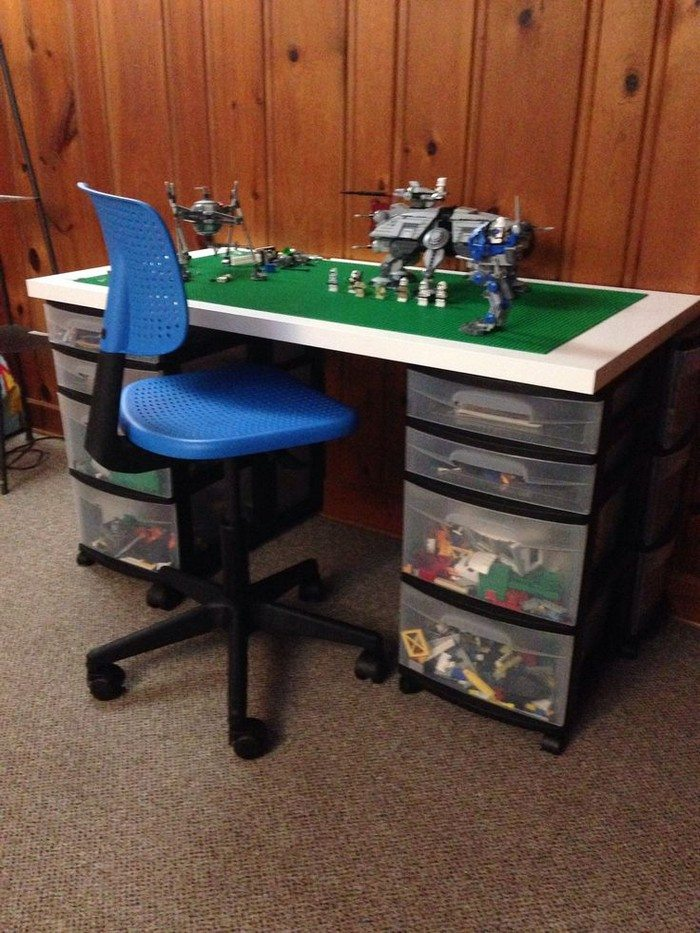 brilliant diy tables for storing and playing with lego diy projects for everyone. Black Bedroom Furniture Sets. Home Design Ideas