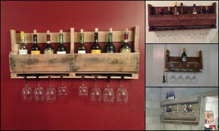 DIY Pallet Wine Rack Finished Product