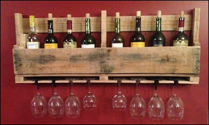 Wine Rack From A Recycled Pallet Diy Projects For Everyone