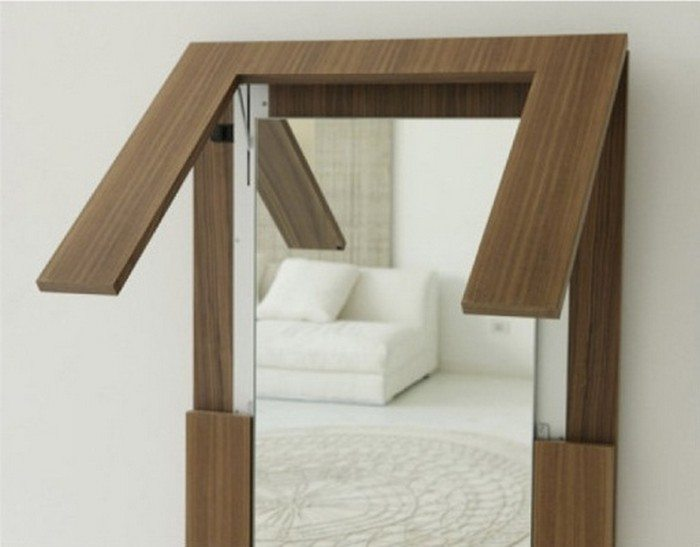 Folding Mirror Table