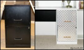 How to turn a file cabinet into a desk