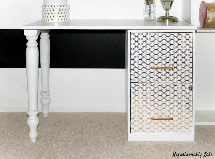 how to turn a file cabinet into a desk diy projects for everyone. Black Bedroom Furniture Sets. Home Design Ideas