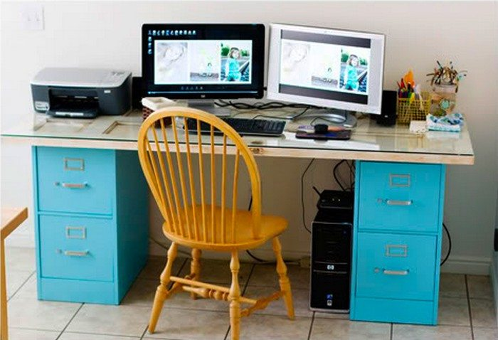 how to turn a file cabinet into a desk diy projects for everyone