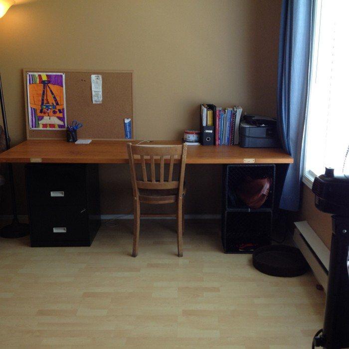 Old Filing Cabinet Desk