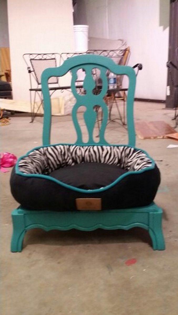 repurpose furniture dog. Repurposed Old Chair Dog Bed Repurpose Furniture T