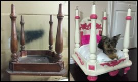 How to repurpose an old chair into a dog bed