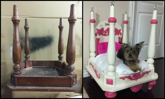 Repurposed Old Chair Dog Bed Main Image