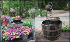 Make a Fountain From a Recycled Tea Pot