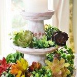 Tiered Clay Pot Table Centerpiece
