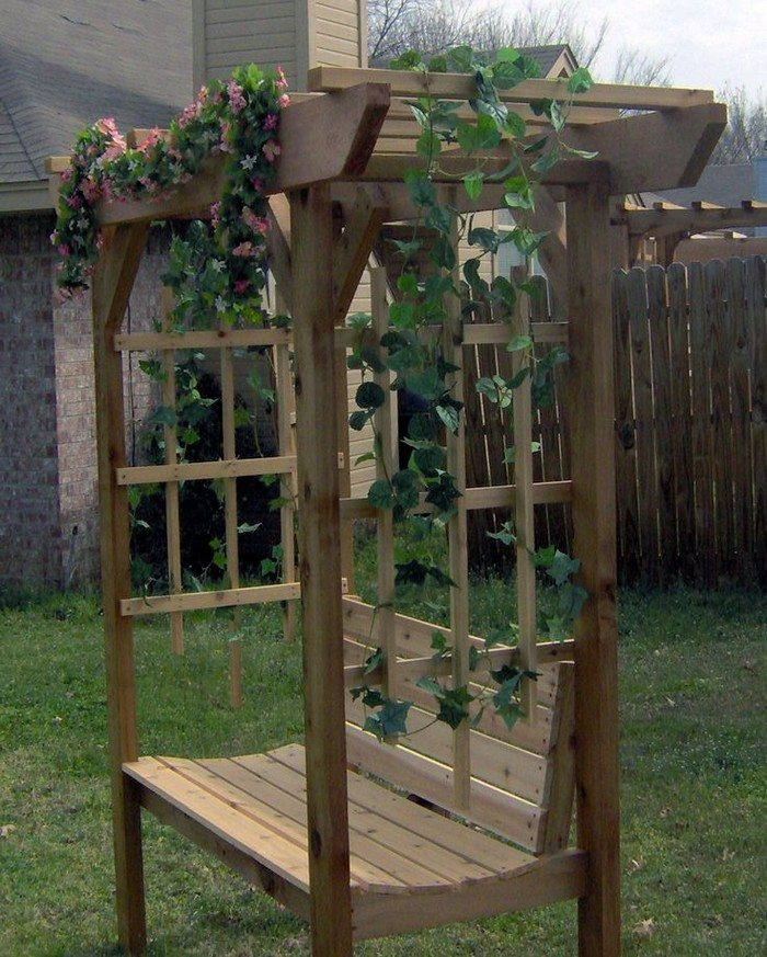 How To Build An Arbor Bench For Your Garden Diy Projects For Everyone