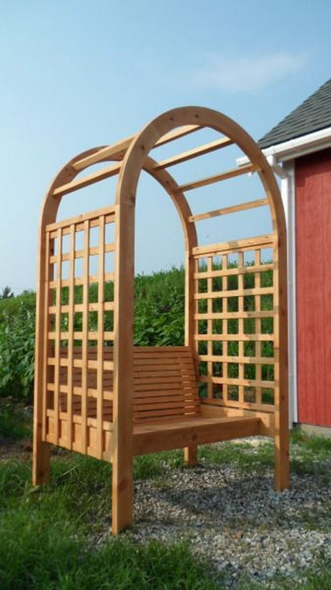 how to build an arbor bench for your garden diy projects for