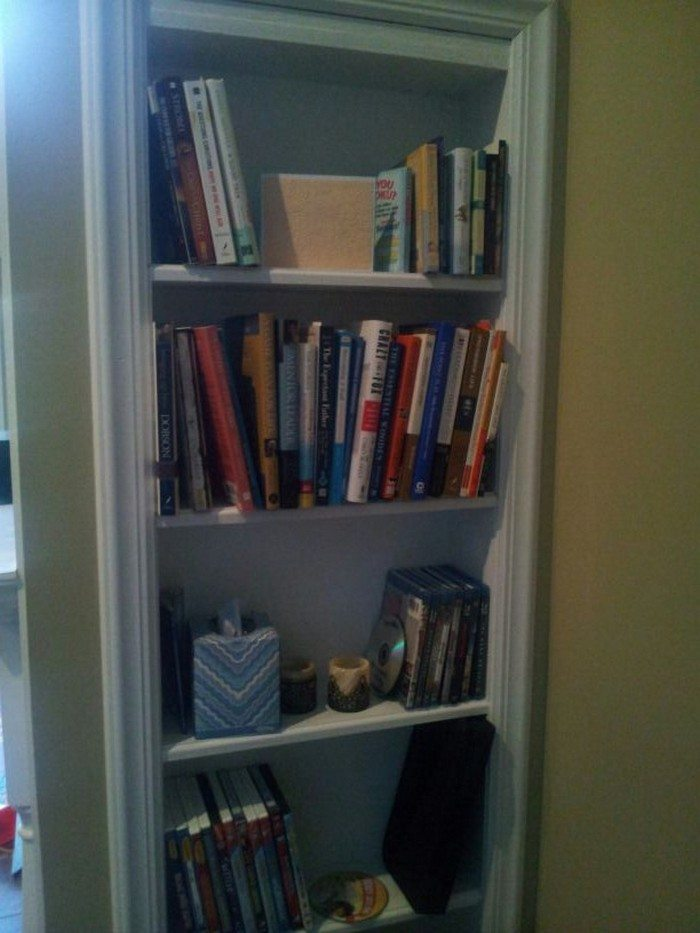 How To Turn A Door Into A Set Of Shelves Diy Projects