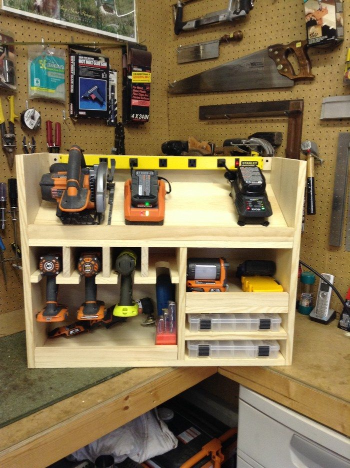 ... drill storage and charging station | DIY projects for everyone