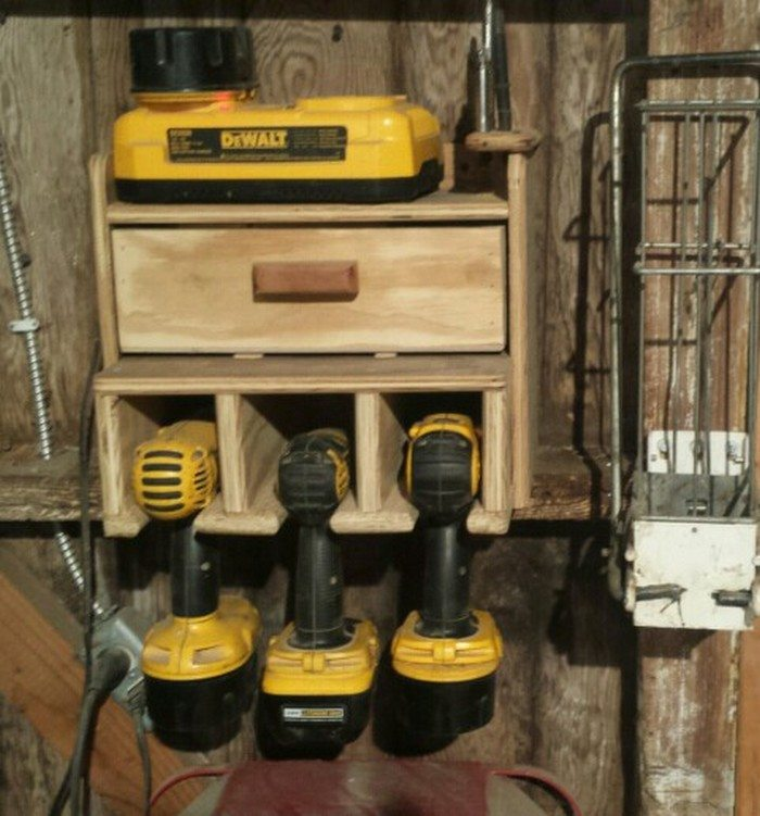 Cordless Drill Storage And Charging Station Diy Projects