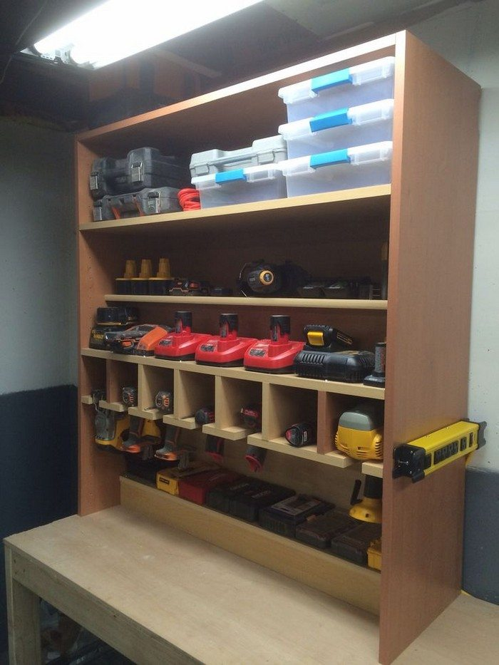 ... Storage And Charging Station. on bathroom cabinet woodworking plans