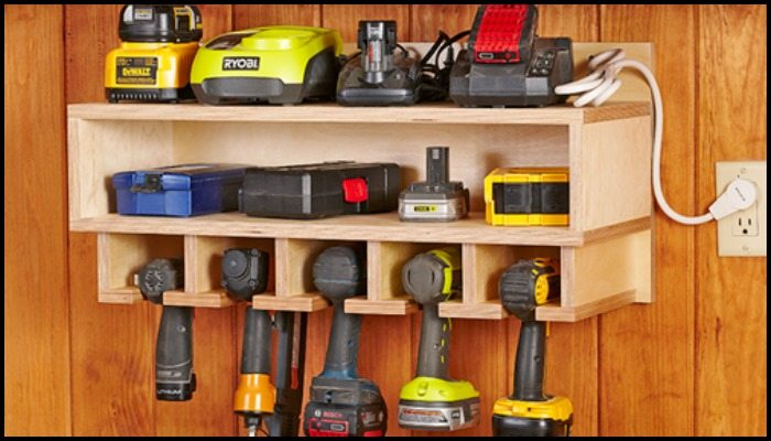 Cordless Drill Storage And Charging Station Main Image & Cordless drill storage and charging station | DIY projects for everyone!