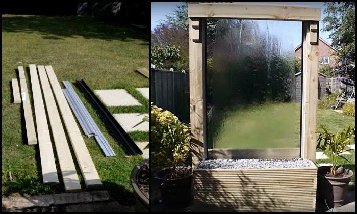 DIY Glass Water Wall Main Image