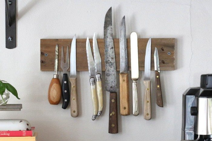 How to make a rustic knife rack