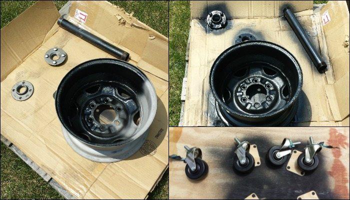 DIY Tire Rim Grill
