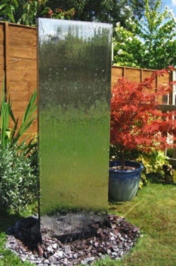 How to build a glass waterfall for your backyard diy - Wasserwand outdoor ...
