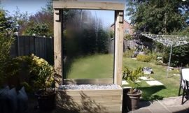 How to build a glass waterfall for your backyard