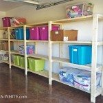 Easy Garage Basement Shelving