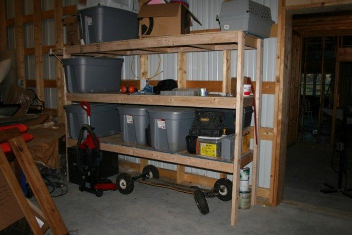Easy garage/basement shelving