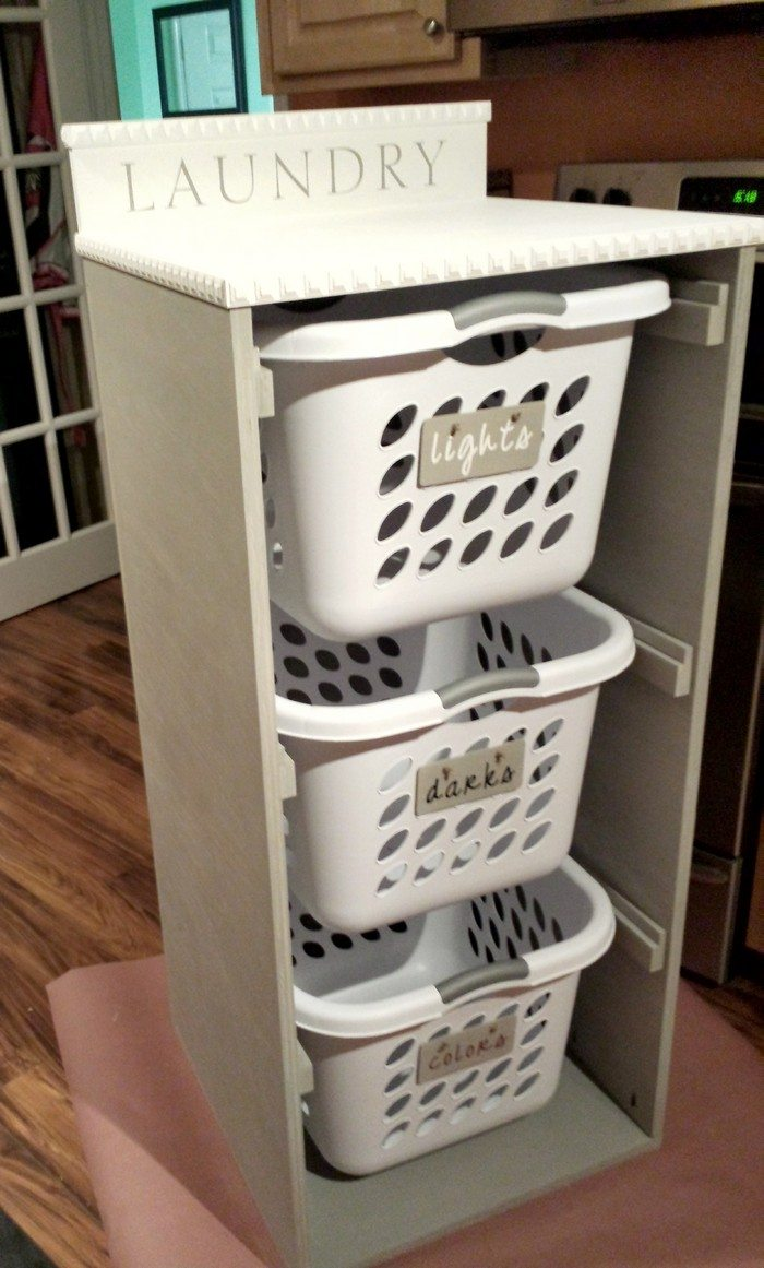 Laundry Basket Dresser   DIY projects for everyone