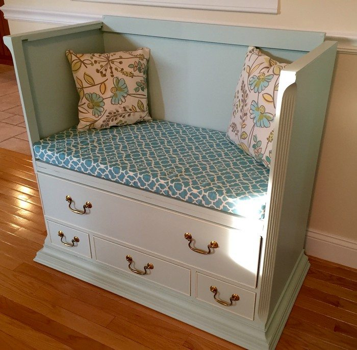 How To Turn An Old Dresser Into A Seating Furniture Diy