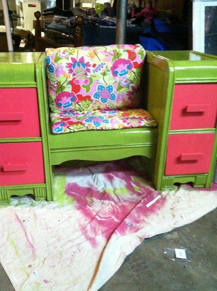 Old Dresser Seating Furniture Samples