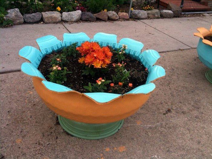 How To Make An Attractive Planter From An Old Tire Diy