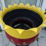 Old Tire Planter