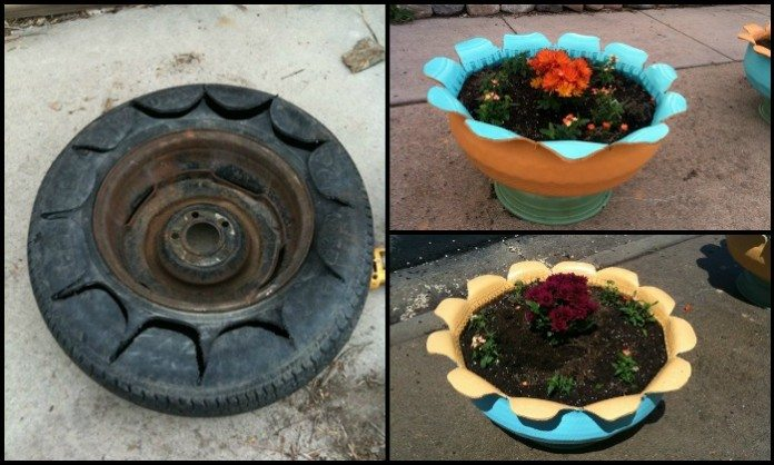 Old Tire Planter Main Image