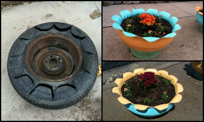 How to make an attractive planter from an old tire