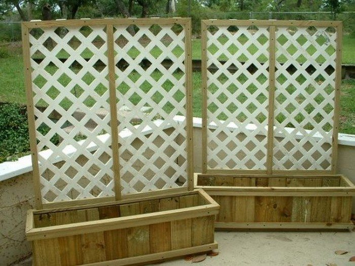 to build a planter with privacy screen diy projects for everyone