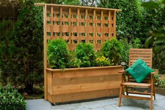 How to build a planter with privacy screen