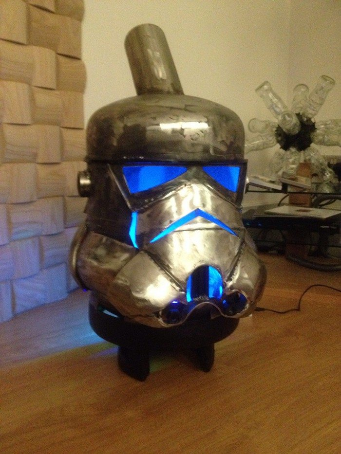 Stormtrooper log burner from gas bottles!