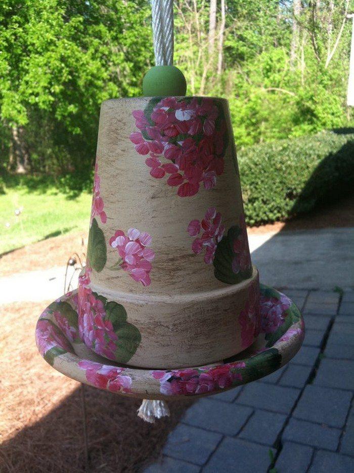 Turn A Terra Cotta Flower Pot Into A Bird Feeder Diy