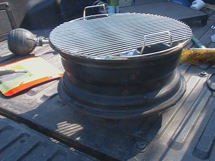 How To Build A No Weld Tire Rim Grill Diy Projects For