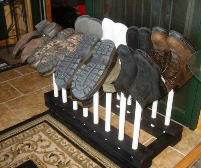 How to build a boot rack