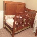 Crib Turned Toddler Bed