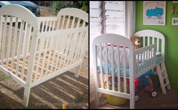 Crib Turned Toddler Bed Main Image
